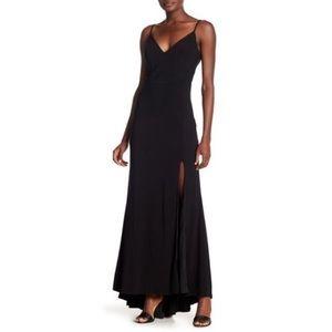 Jump Plunging-V-Neck Long Dress Nordstrom Black